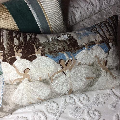 Swan Lake Linen Pillow