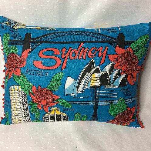Retro Sydney Linen Cushion