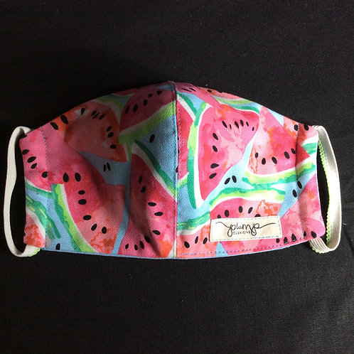 Fitted Facemask -Watermelons