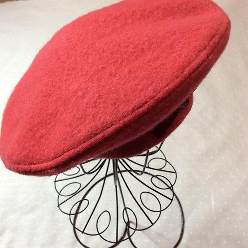 Raspberry Wool Beret