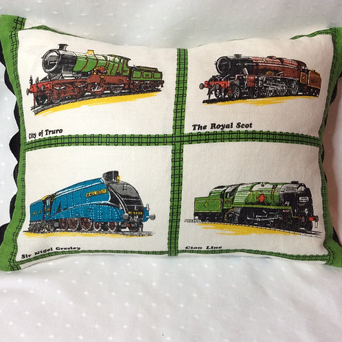 Steam Trains Linen Cushion