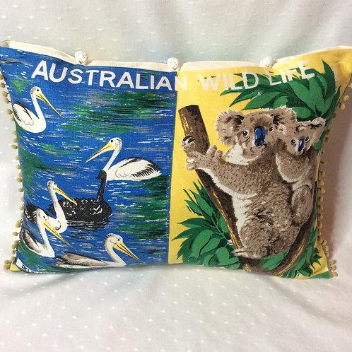 Aus Wildlife Linen Cushion