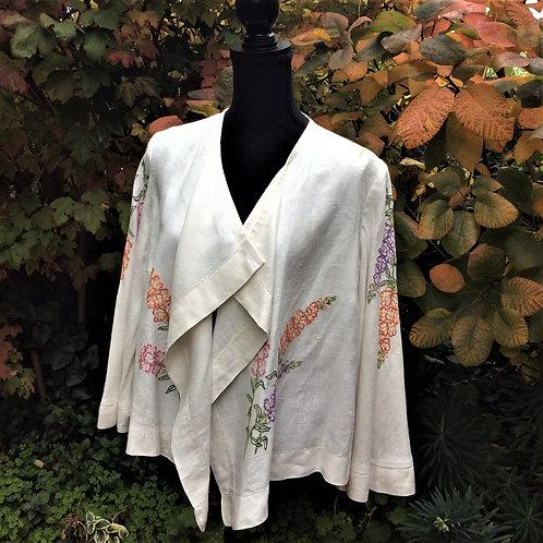 Linen Waterfall Jacket Snapdragons