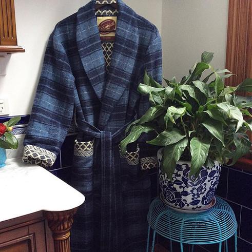 Shawl collar dressing gowns