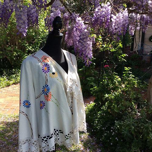 Linen Waterfall Jacket Retro