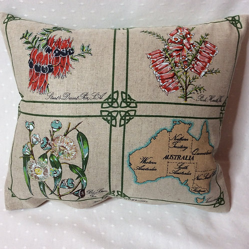 State Wildflowers Linen Cushion