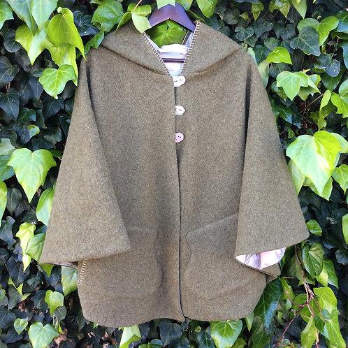 Hooded Wool Cape