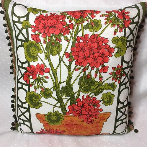 Geranium Linen Cushion