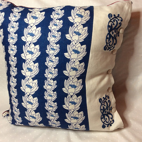 Water Lily Linen Cushion