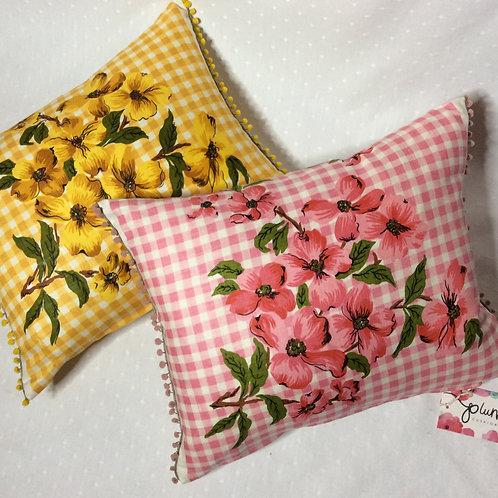 Pair of Dogwood Linen Cushions
