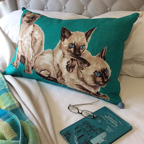 Siamese Linen Pillow