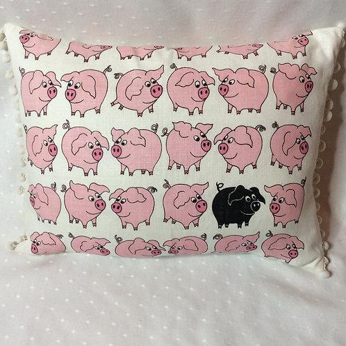 Piglet Linen Cushion