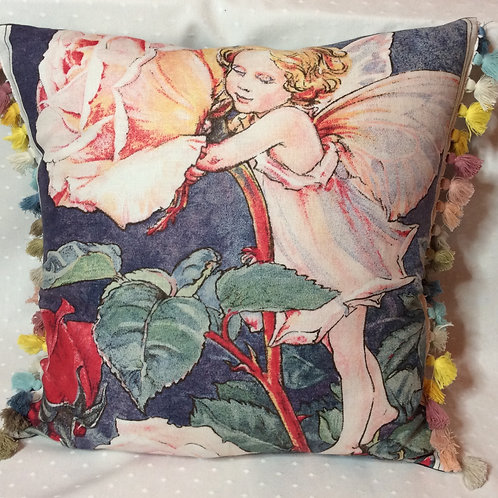 Rose Fairy Linen Cushion