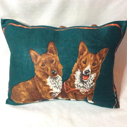 Corgi Linen Cushion