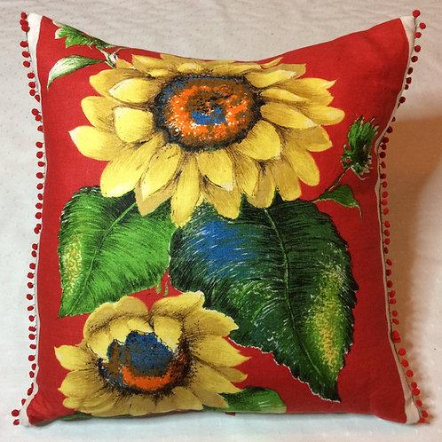 Sunflower Linen Cushion