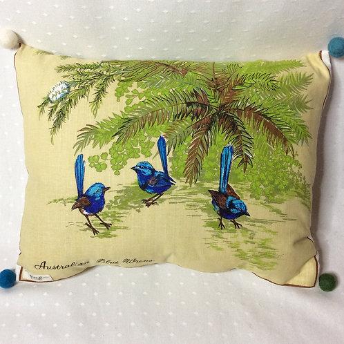 Blue Wren Cushion