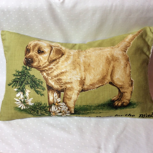 Guide Dog Linen Feather Pillow
