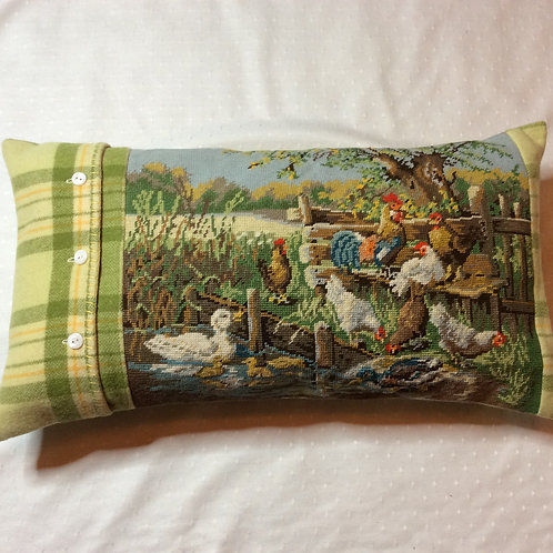 Farmyard Tapestry Pillow
