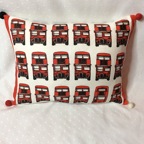 London Bus Linen Cushion