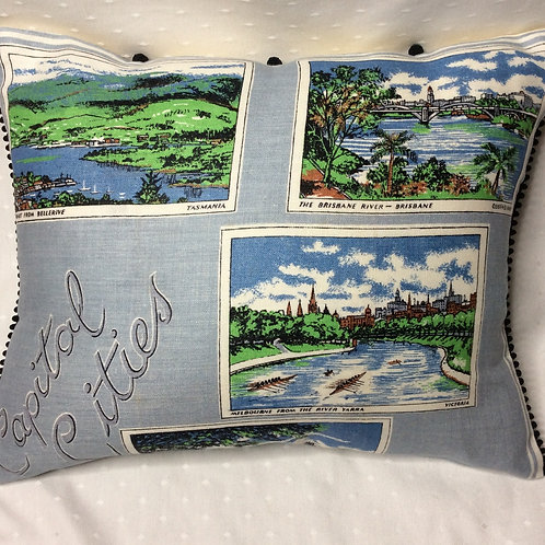 Aus Capital Cities Linen Cushion