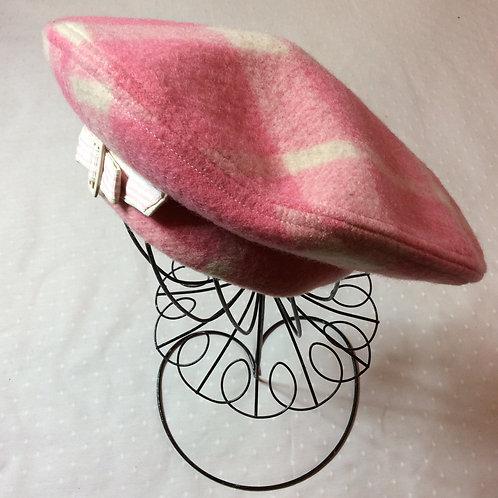 Hot Pink Wool Beret