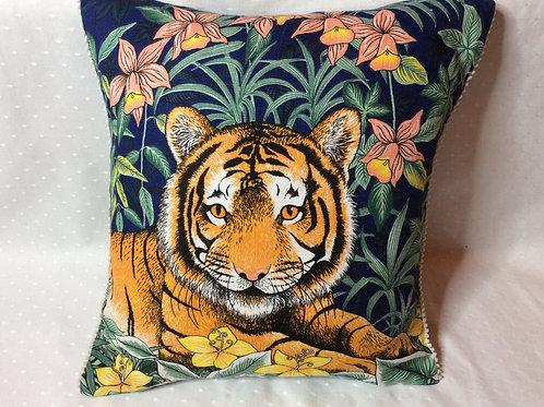 Tiger Linen Cushion
