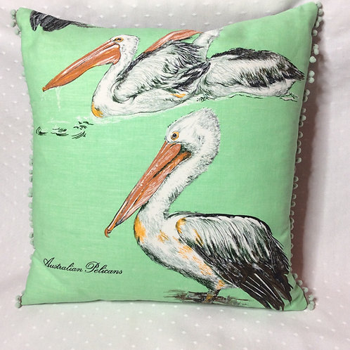 Oz Pelicans Linen Cushion