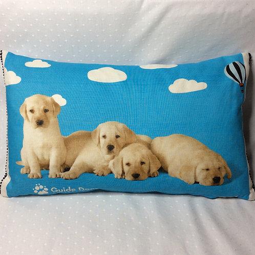 Puppies Linen Pillow