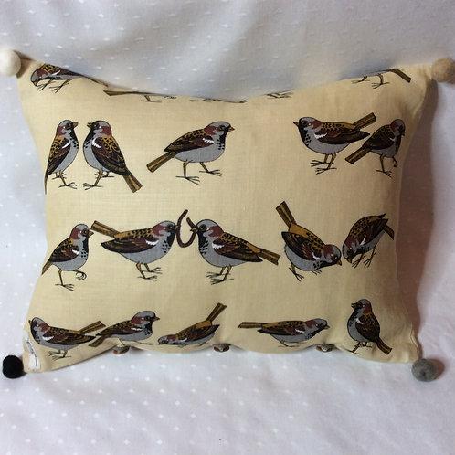 Sparrow Linen Cushion