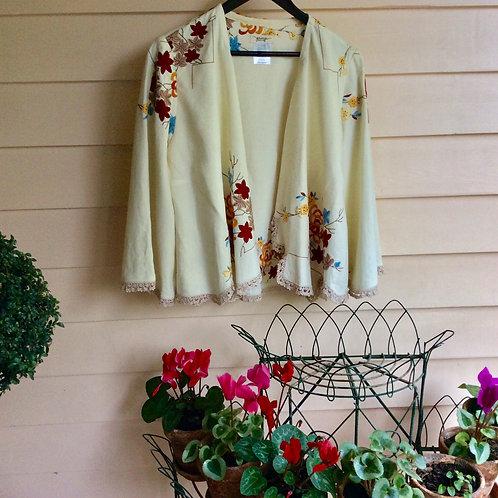 Linen Waterfall Jacket Autumnal