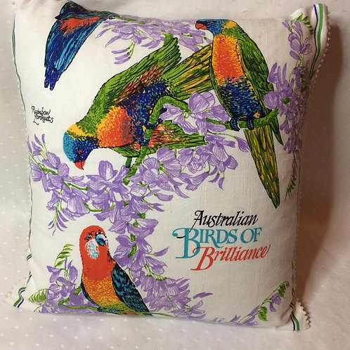 Aus Birds Linen blend Cushion