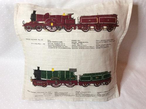 Steam Trains2 Linen Cushion