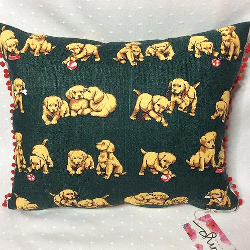 Puppy Linen Cushion