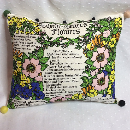 Shakespeare's Flowers Linen Cushion