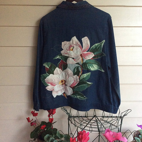 Denim Jacket Embellished Magnolia