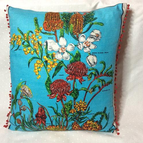 Oz Native Flora Linen Cushion