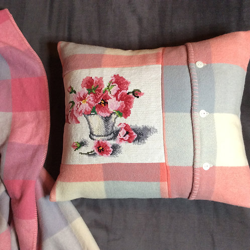Pansy Tapestry Cushion Reserved for SB