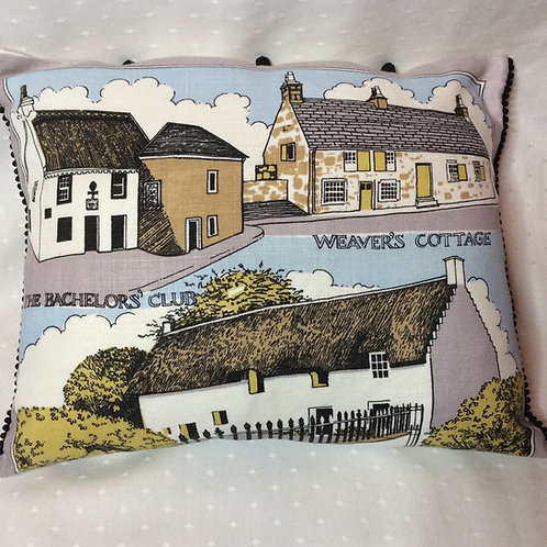 Scottish Cottages Linen Cushion