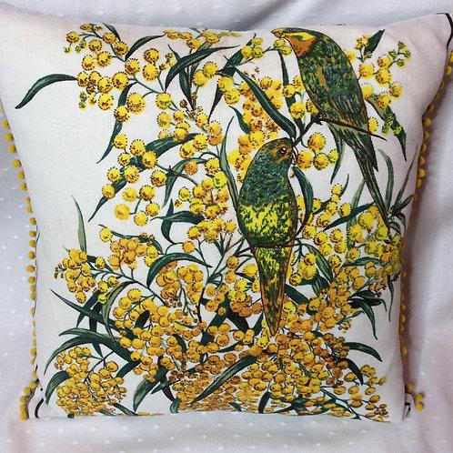 Wattle Linen Cushion