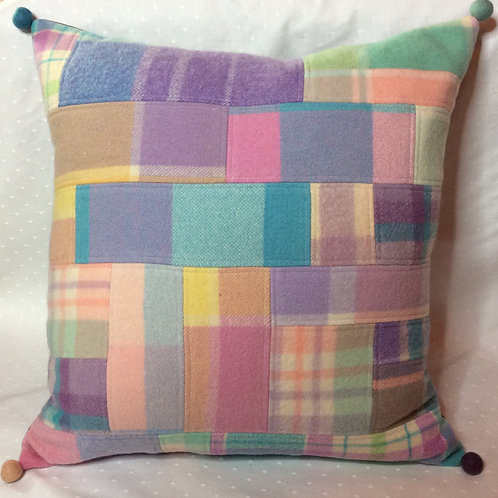 Pieced Wool Cushion