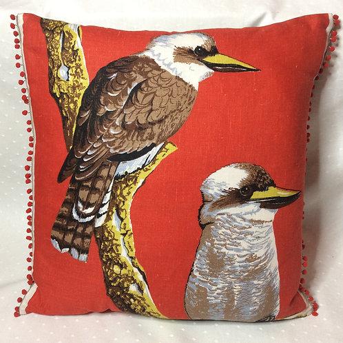 Kookaburra Linen Cushion