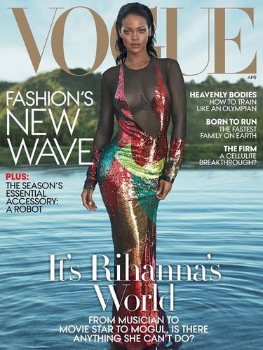Rihanna en couverture de Vogue USA par MERT ALAS AND MARCUS PIGGOTT en Avril 2016