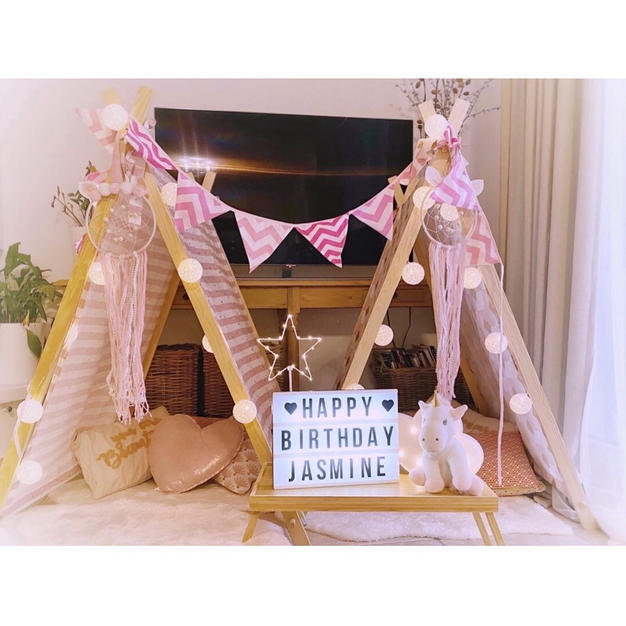 ...I will never forget the excitment and happy giggles of Jasmine and her lovely little brother while setting-up the teepees before guests arrived...