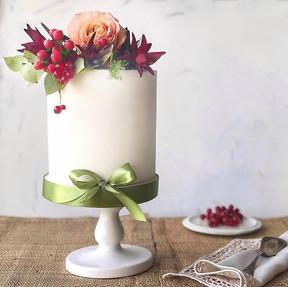 A pretty little birthday cake ..