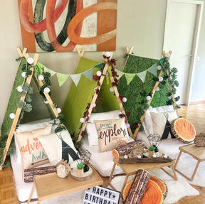 ...after setting-up and styling my Teepees...