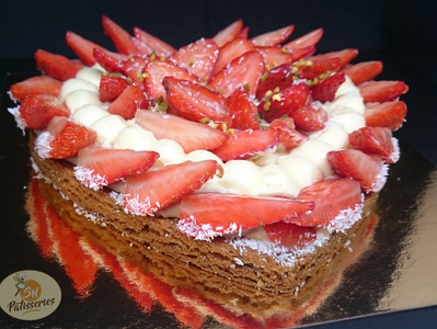 Coeur aux fraises