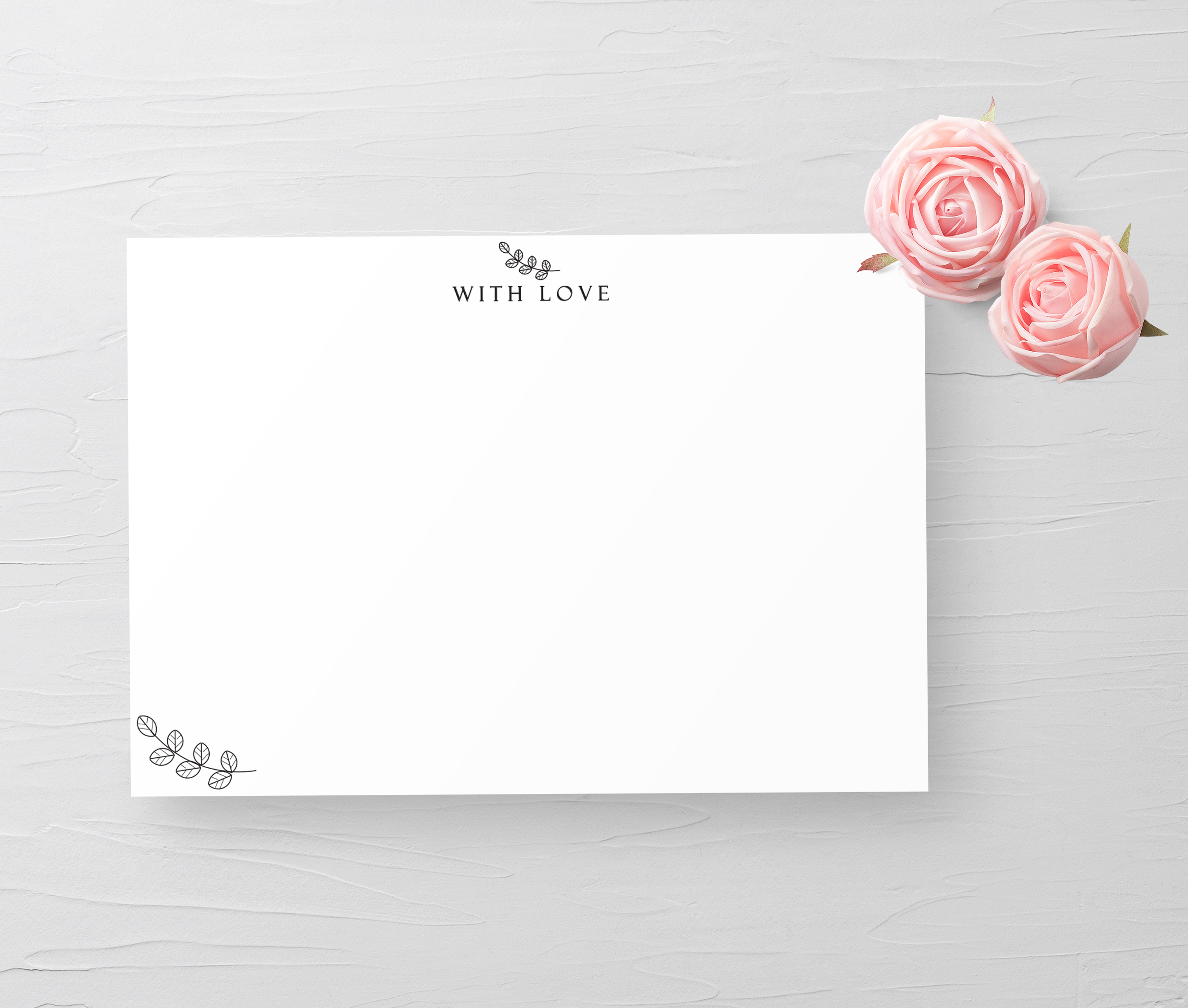 With Love Note Card