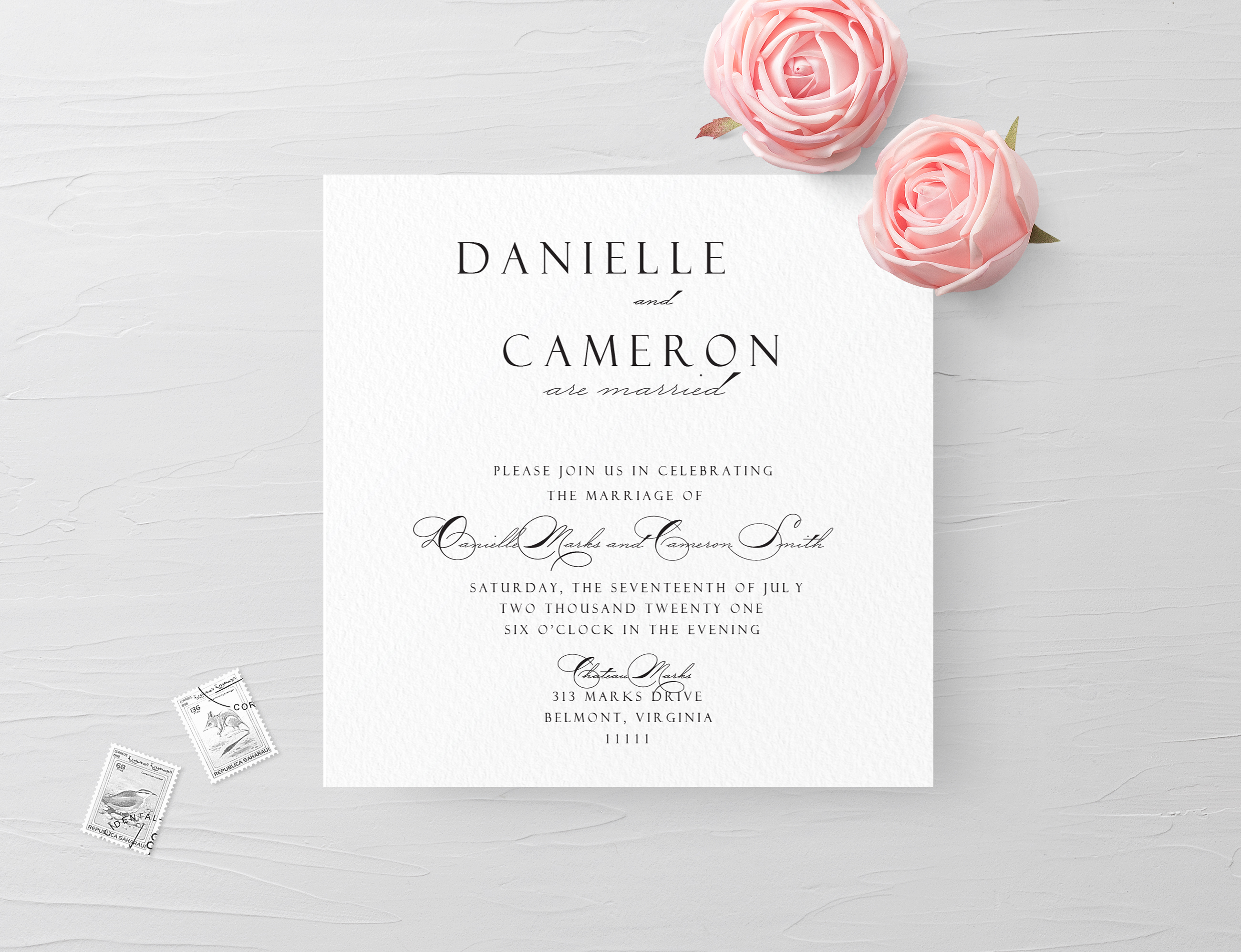 Elopement Invite