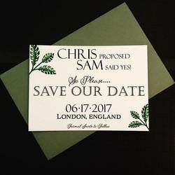 Custom made Save the Date