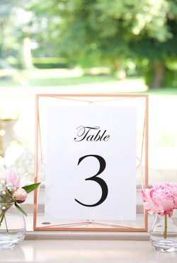 Classic Table Number